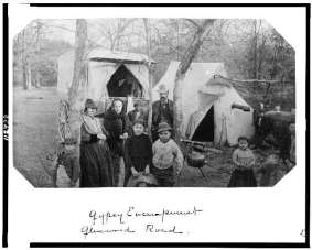 Gypsy encampment Glenwood Road